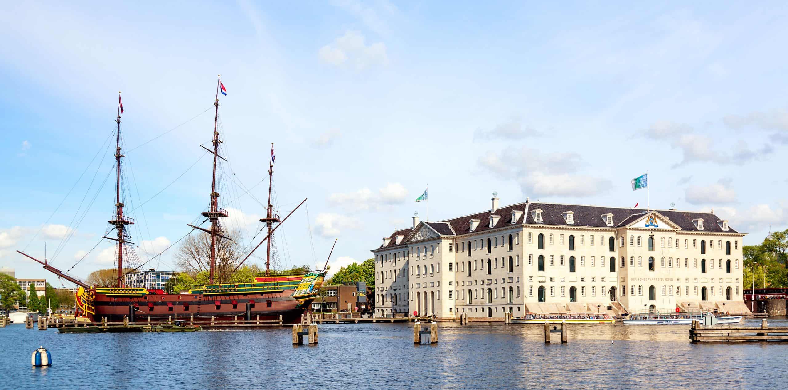 Scheepvaart museum, onderdeel van musea van Amsterdam
