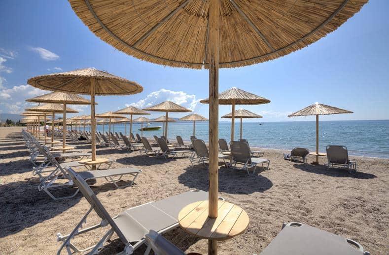 Strand van Kalives in Chalkidiki, Griekenland