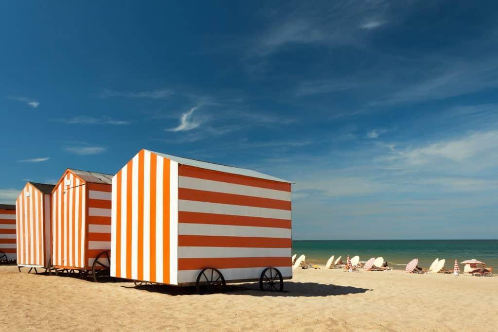 strandhuisjes in De Panne, België
