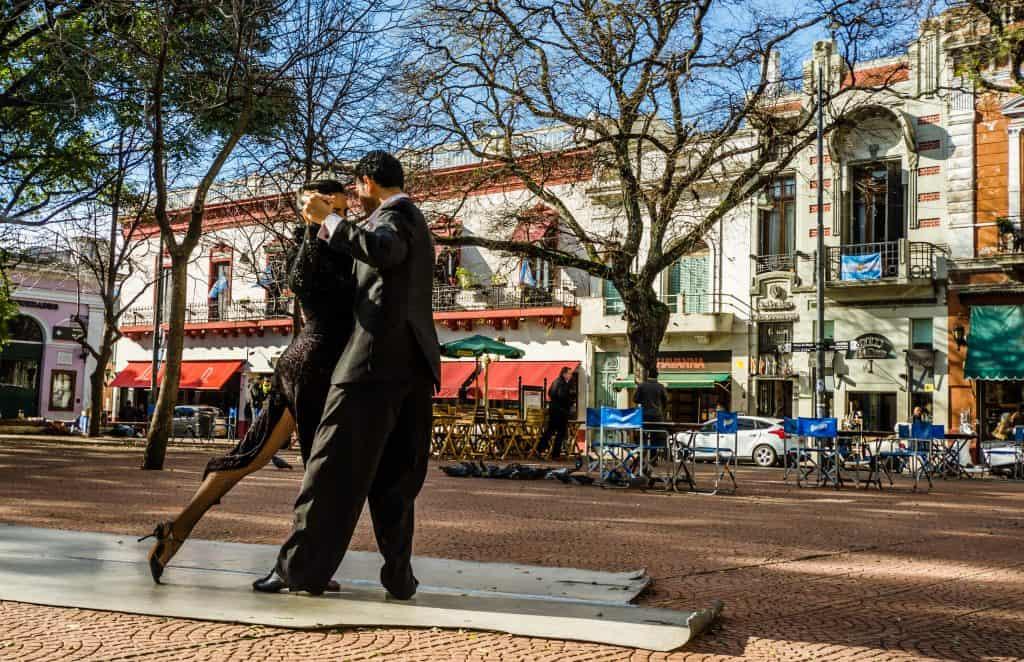 tango dansen in Buenos Aires, argentinie