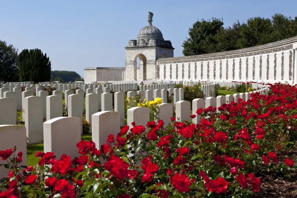 Tyne Cot Cemetery in Ieper