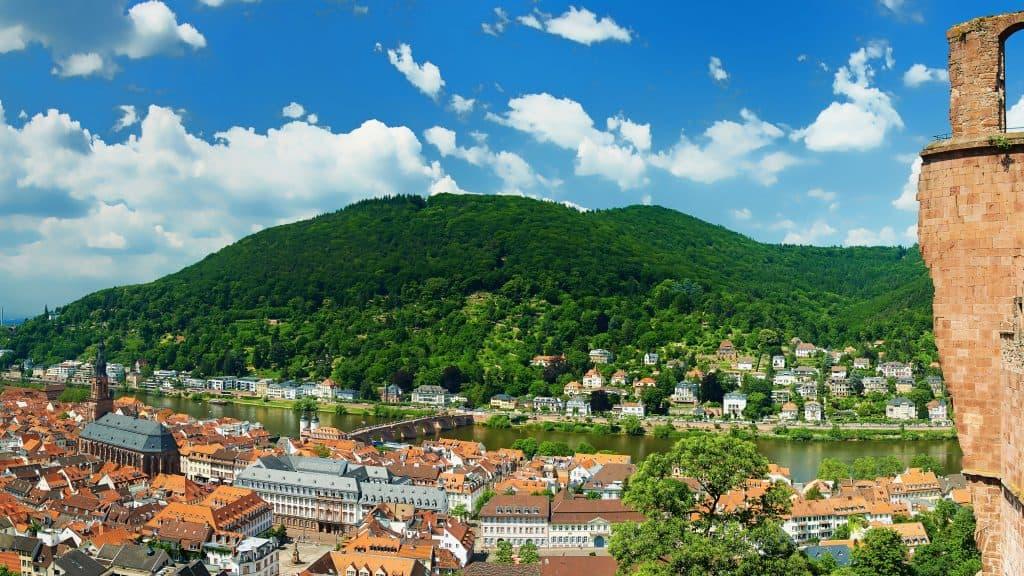 Uitzicht over Heidelberg  vanaf de Königstuhl