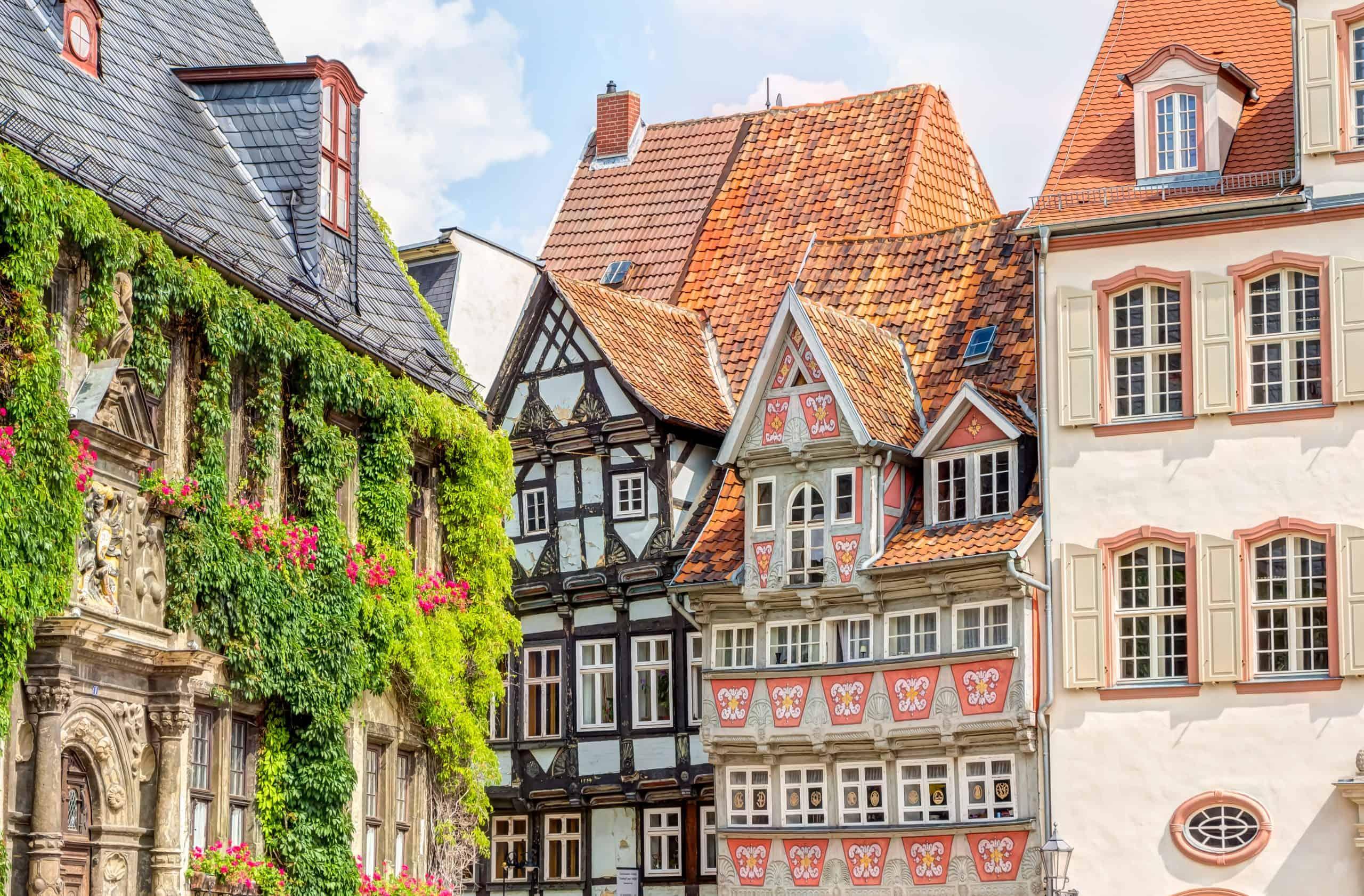 vakwerkhuizen in Quedlinburg, Duitsland