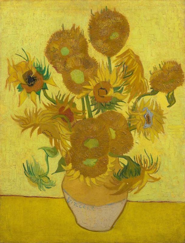 Zonnebloemen van Vincent van Gogh